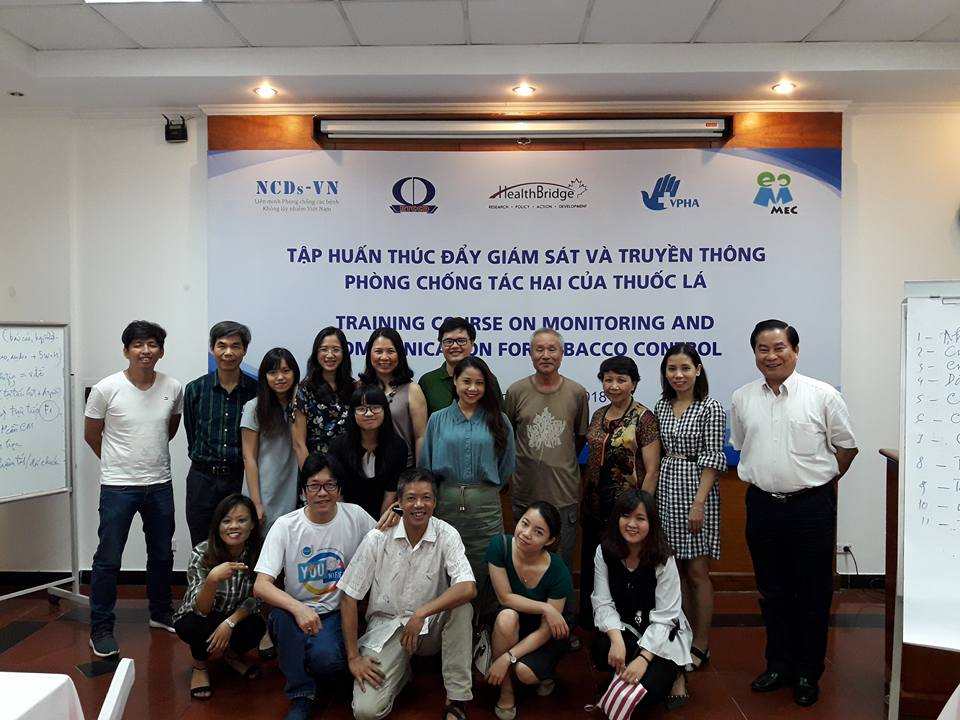 NCDs-VN organized a training workshop on monitoring and communication for tobacco control on May 03- 05