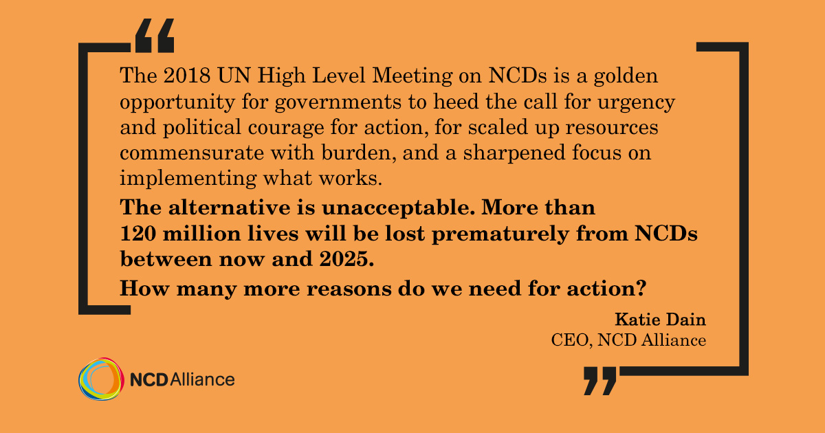 The UNHLM is an opportunity to heed the call to action on NCDs