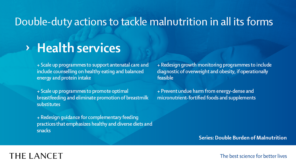 Manifesto on the Double Burden of Malnutrition | The Lancet - Health services
