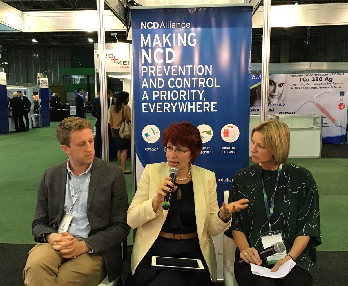 Dr Flavia Bustreo, WHO Former Assistant Director General and Global leader for health, rights of women, children, adolescents and older people, speaks at an NCD Café session at 2018 FIGO World Congress.