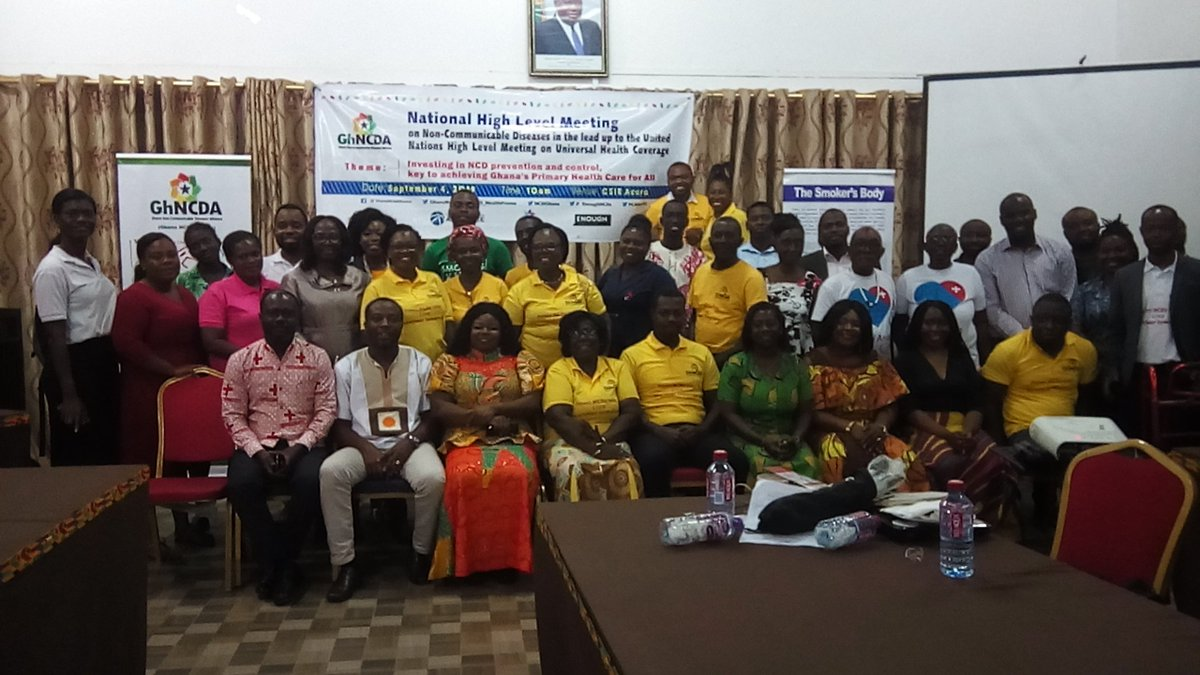 Ghana NCD Alliance held a national high level meeting on NCDs and a press conference during the 2019 W4A on NCDs