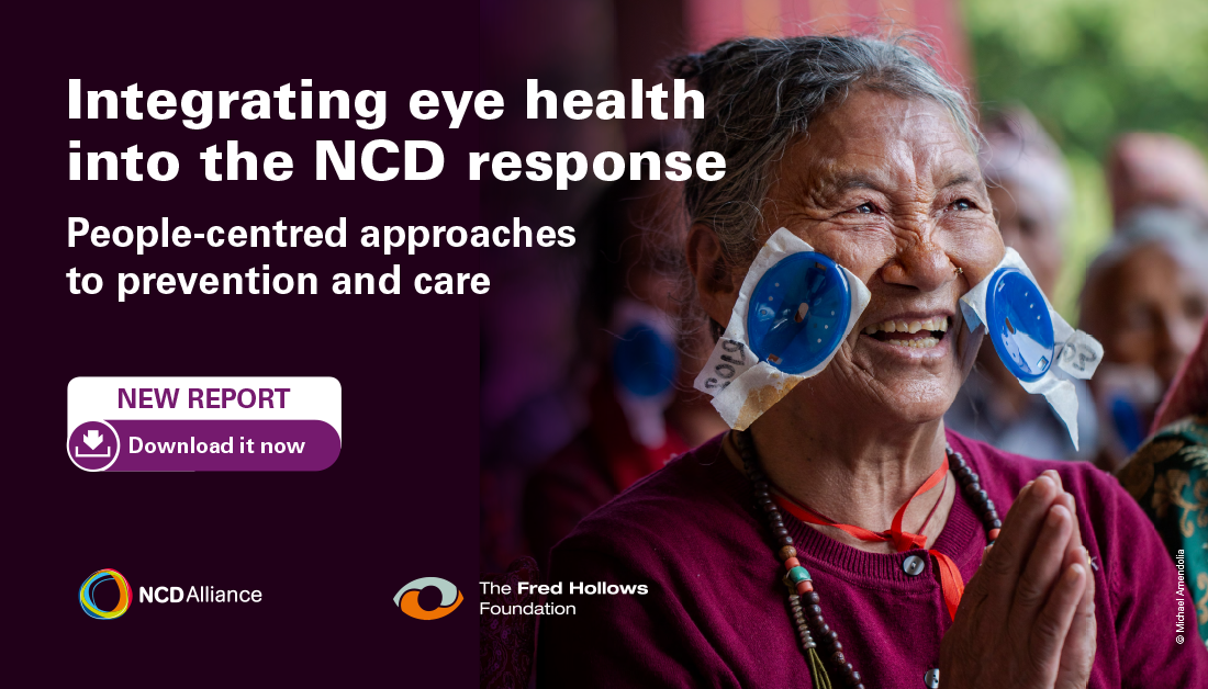 Eye health report cover. Image by NCD Alliance