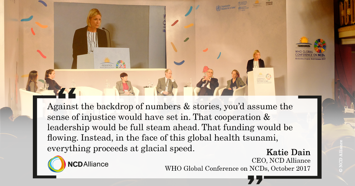 Katie Dain - The response to NCDs is moving at glacial speed