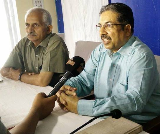 Dr Rakesh Gupta (right), in an interview for the Rajasthan Cancer Foundation
