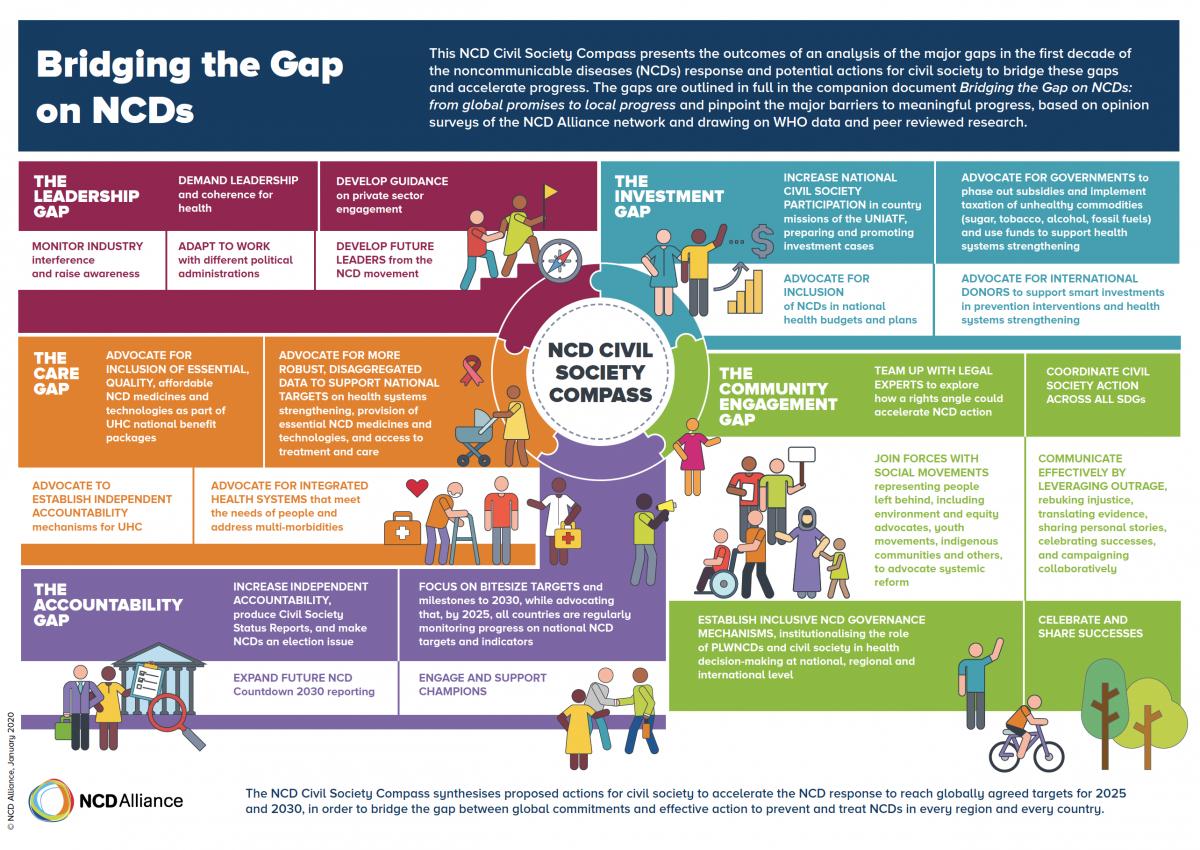 ny hög kvalitet tillgängliga 2018 skor Bridging the Gap - NCD Civil Society Compass | NCD Alliance