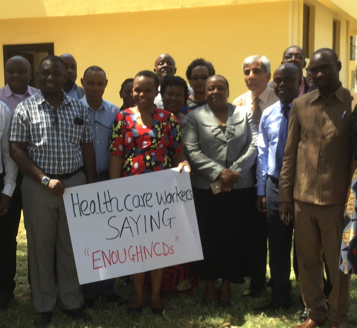 Tanzania NCD Alliance held advocacy meetings during the 2019 Week for Action with medical officers focused on improving health systems for NCDs and UHC