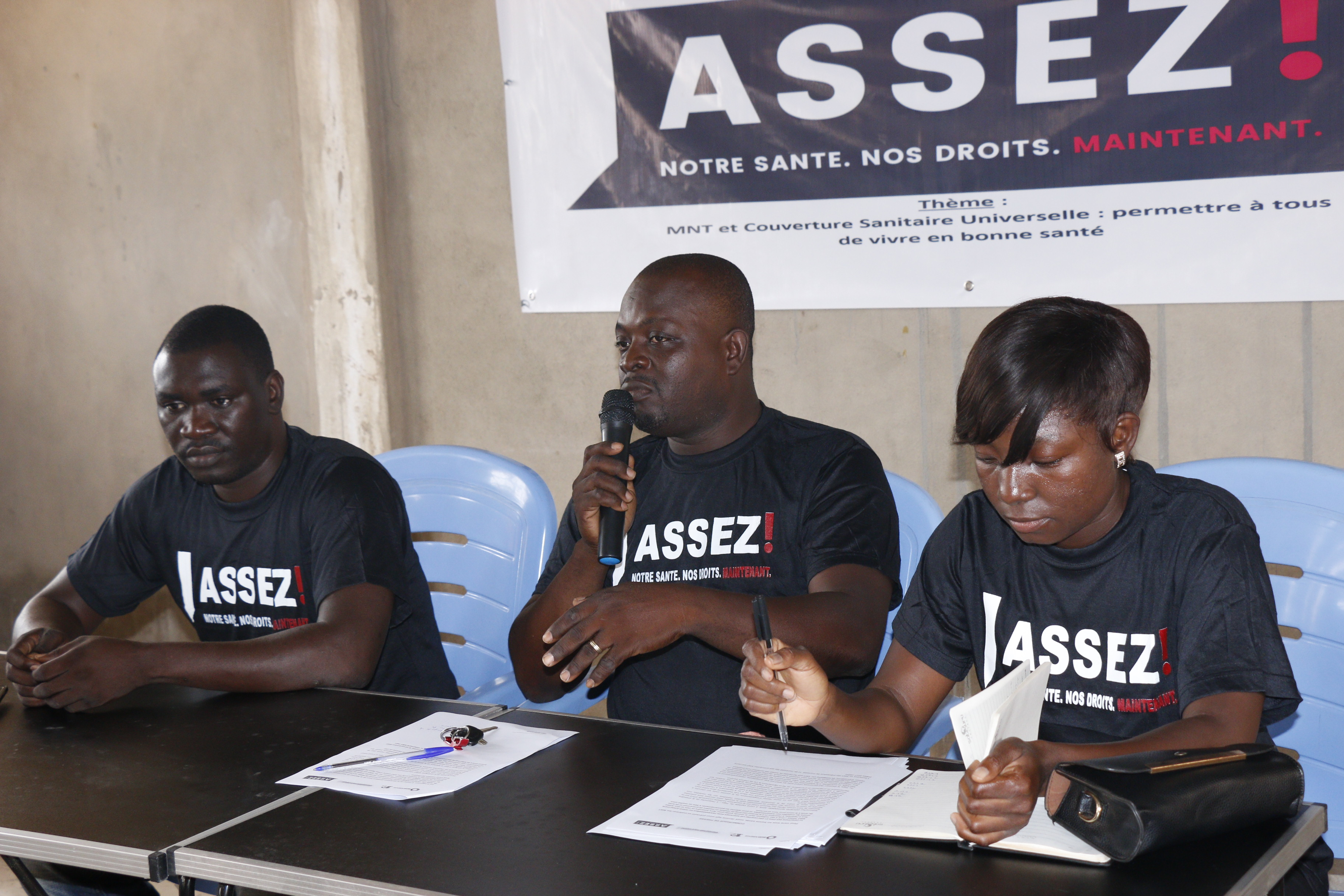 Coalition MNT-Togo engaged the Togolese media through radio and press conferences during the 2019 W4A