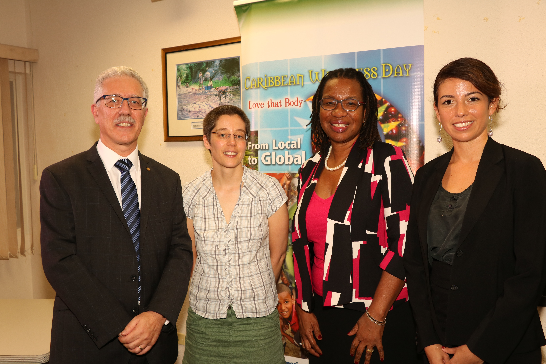 Dr Godfrey Xuereb, Pan American Health Organisation; Dr Jean Adams, University of Cambridge; Dr Alafia Samuels, Chronic Disease Research Centre and Ms Miriam Alvarado, University of Cambridge