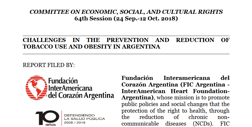 Successful advocacy to protect the right to health in Argentina