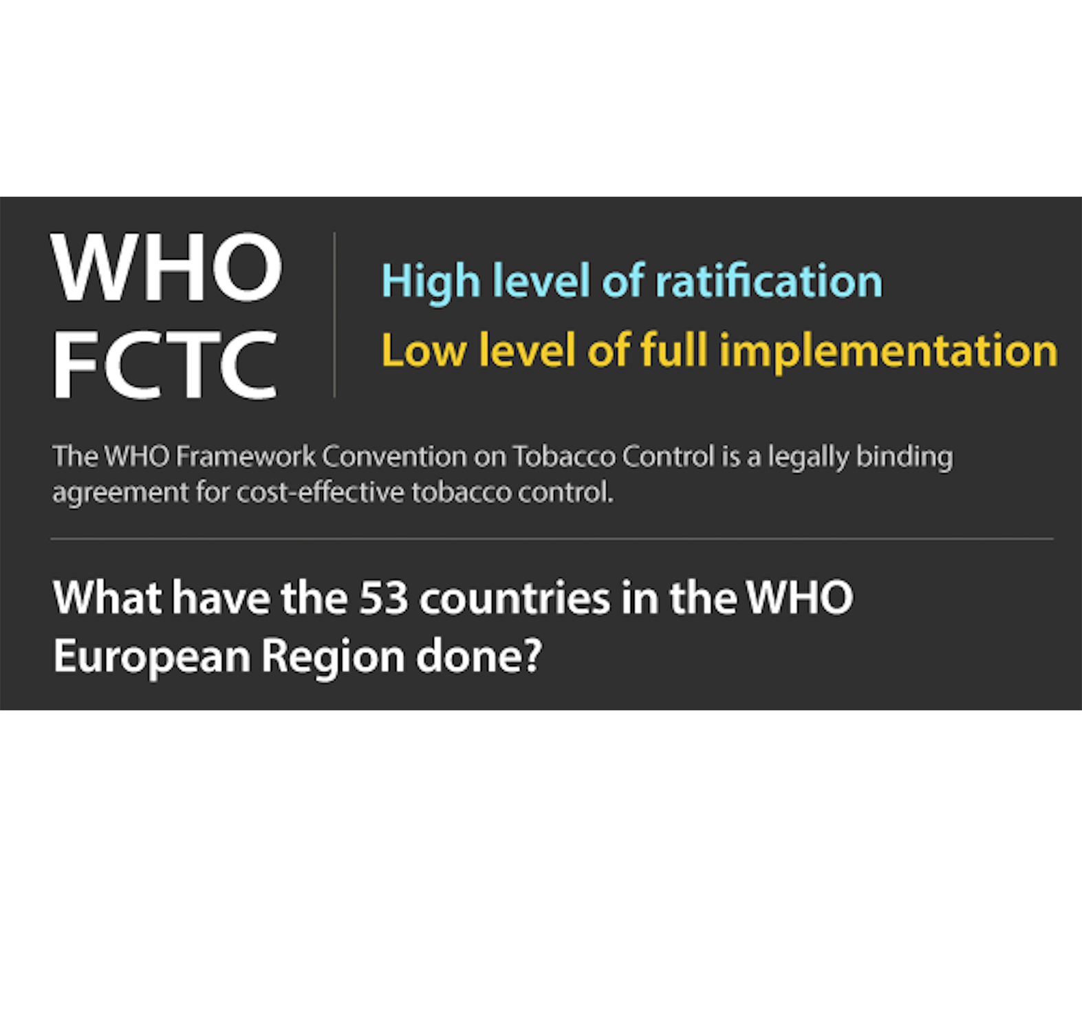 10 Anniversary of the WHO Framework Convention for Tobacco Control