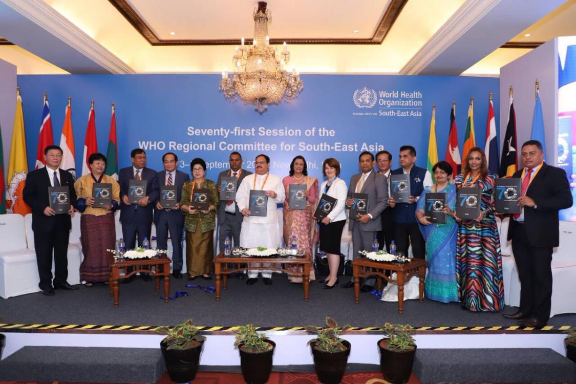 Reunión OMS SEARO: Las agendas de la cobertura universal y las ENT están inextricablemente unidas.
