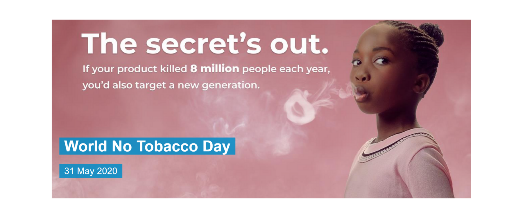 Cancer Research UK awarded 2020 WHO World No Tobacco Day Award