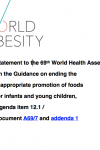 WHA69 Agenda Item 12.1 Statement on the Guidance on ending the inappropriate promotion of foods for infants and young children