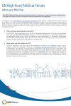 2017 UN High-level Political Forum Advocacy Briefing