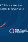 NCD Alliance Webinar, 17 January 2019
