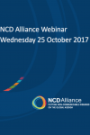 NCD Alliance Webinar, 25 October 2017