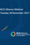 NCD Alliance Webinar, 28 November 2017