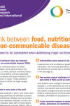 Joint policy brief: The link between food, nutrition, diet and NCDs