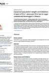 Expected impact of the sugar sweetened beverages tax in Mexico