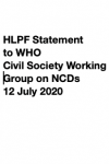 HLPF Statement to WHO -  WHO Civil Society Working Group on NCDs