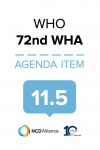 72nd WHO WHA Statement on Item 11.5 Universal health coverage: Primary health care towards universal health coverage