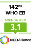 142nd WHO EB Joint Statement on Item 3.1 Draft General Programme of Work GPW13