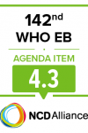 142nd WHO EB Joint Statement on Item 4.3: Global Strategy for Women's, Children's and Adolescents' Health: early childhood development