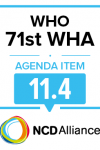 71st WHO WHA Statement on Item 11.4 Health, environment and climate change