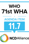 71st WHO WHO Statement on Item 11.7 Preparation for the third High-level Meeting of the General Assembly on the Prevention and Control of NCDs, to be held in 2018