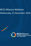 NCD Alliance Webinar, 12 December 2018