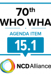 70th WHO WHA Agenda Item 15.1: Preparation for the third High-level Meeting of the General Assembly on the Prevention and Control of Non-communicable Diseases, to be held in 2018