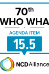 70th WHO WHA Agenda Item 15.5: Implementation Plan for the Report of the Commission on Ending Childhood Obesity