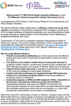 (Reconvened) 73rd WHO World Health Assembly Statement on item 15.2 Maternal, infant & young child nutrition Documents (A73/4)