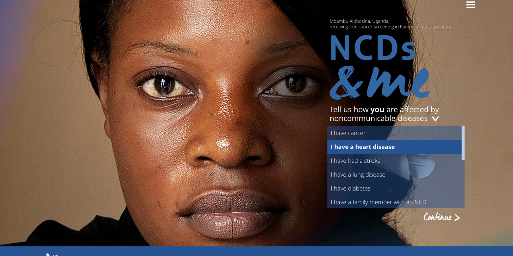NCDs&me homepage
