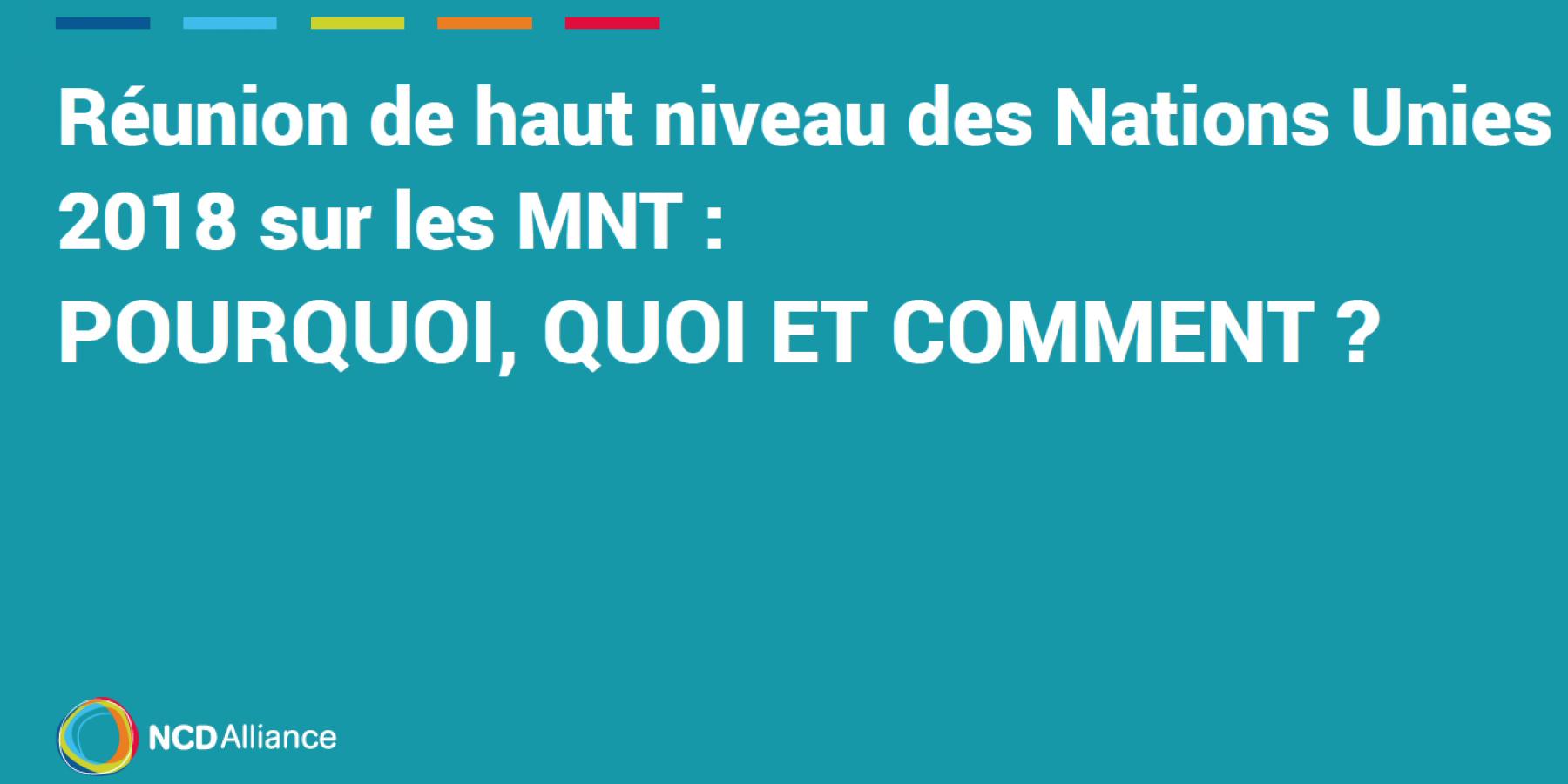 Réunion de haut niveau des Nations Unies 2018 sur les MNT   Pourquoi, quoi  et comment     NCD Alliance 917349365b15