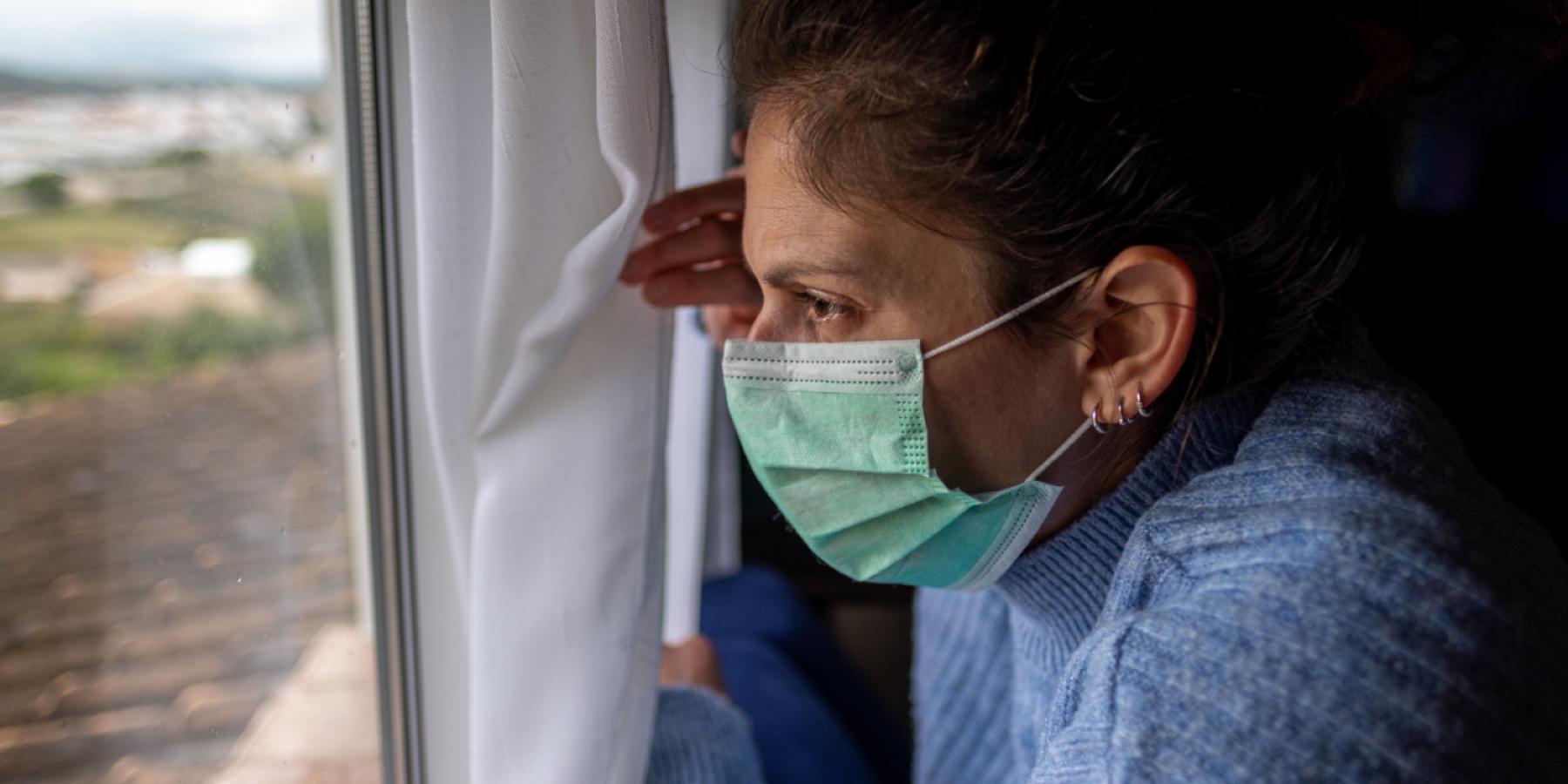 Woman wearing mask. Image by shutterstock