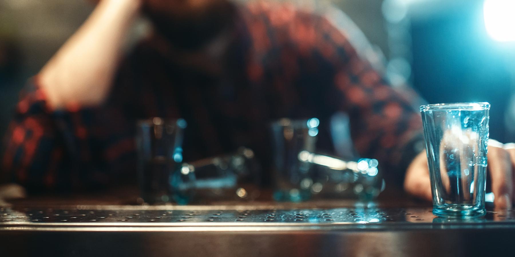 Man sitting at bar