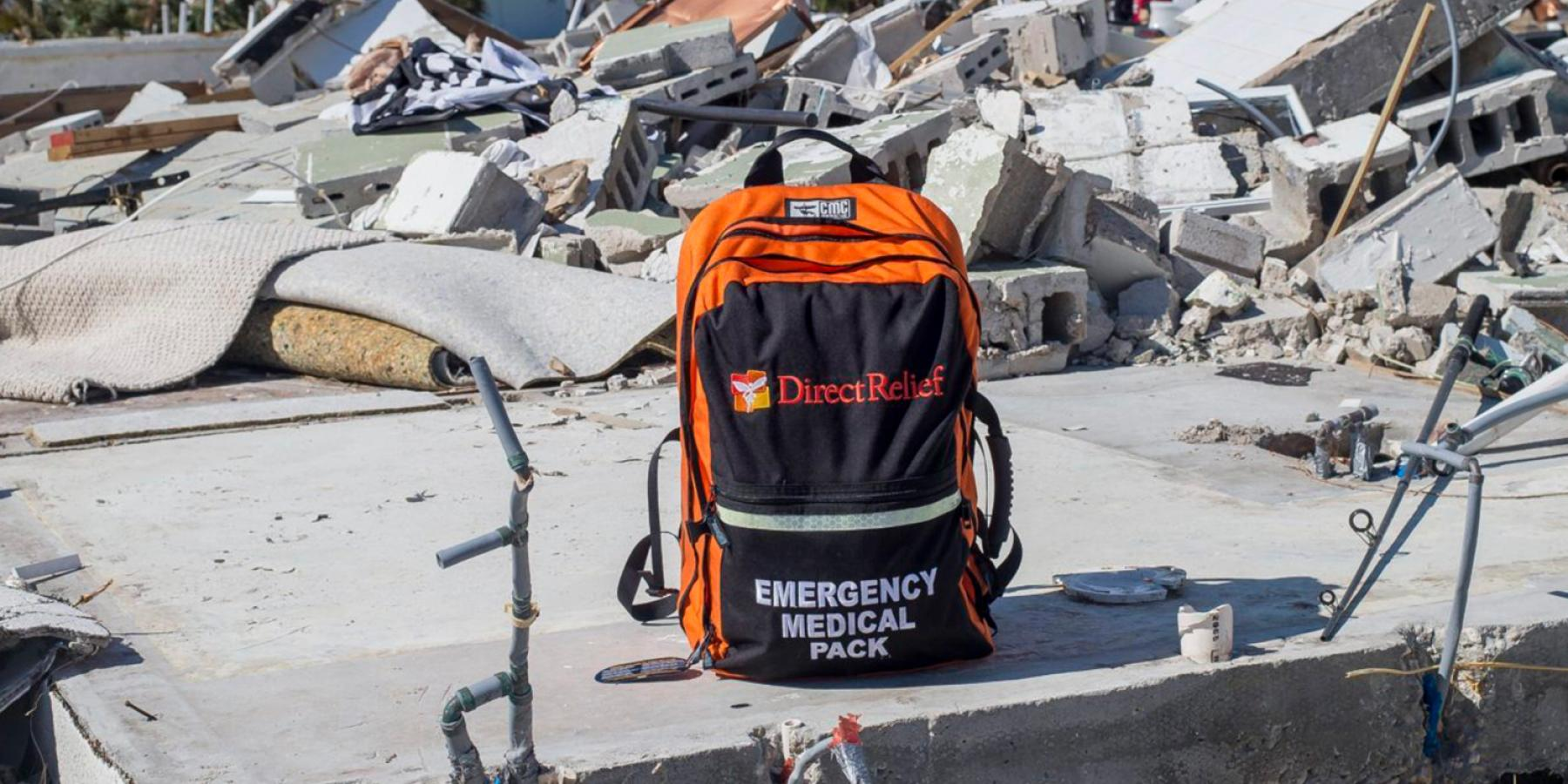 Direct Relief delivered emergency medical supplies to help the community of Mexico Beach devastated by Hurricane Michael in October 2018 © Zack Wittman for Direct Relief