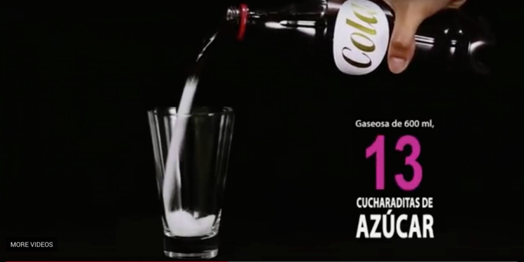"""Tómala en serio"" campaign highlights the amount of sugar consumed through drinking sugar-sweetened beverages."