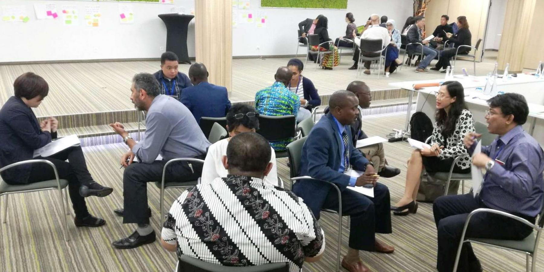 Participants hold animated discussions at the NCD Alliance advocacy training, May 2018.