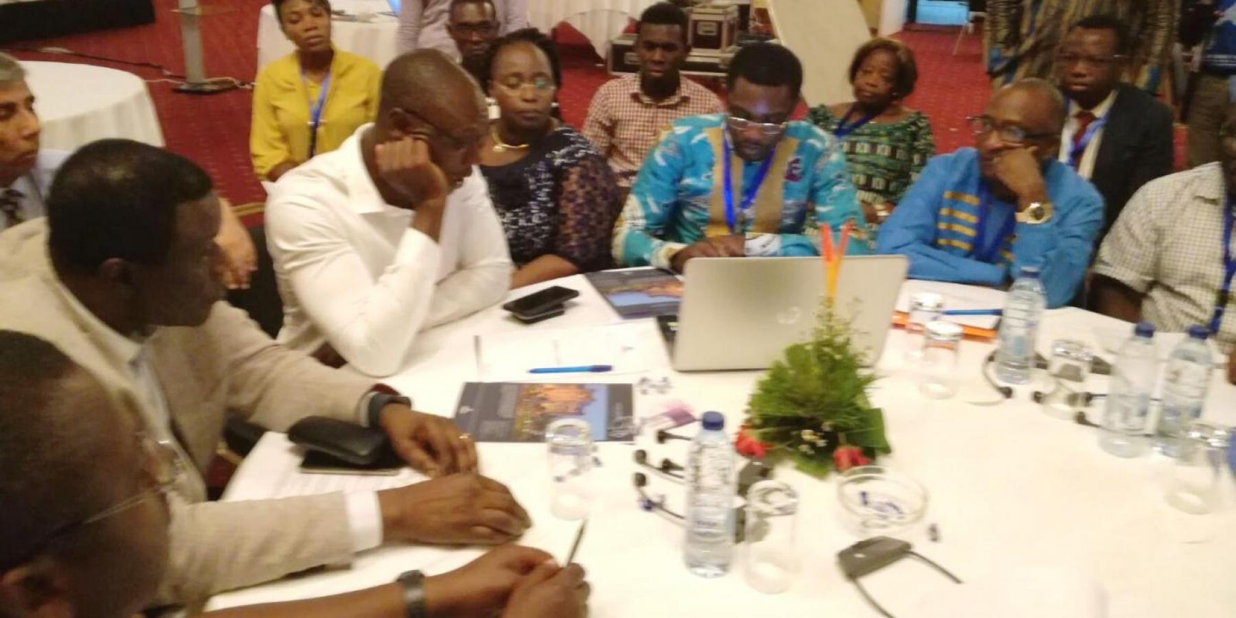 Prof. Jean Claude Mbanya, Tih Ntiabang, Ferdinant Sonyuy Mbiydzenyuy and other advocates discussing the formation of a Cameroonian NCD Alliance