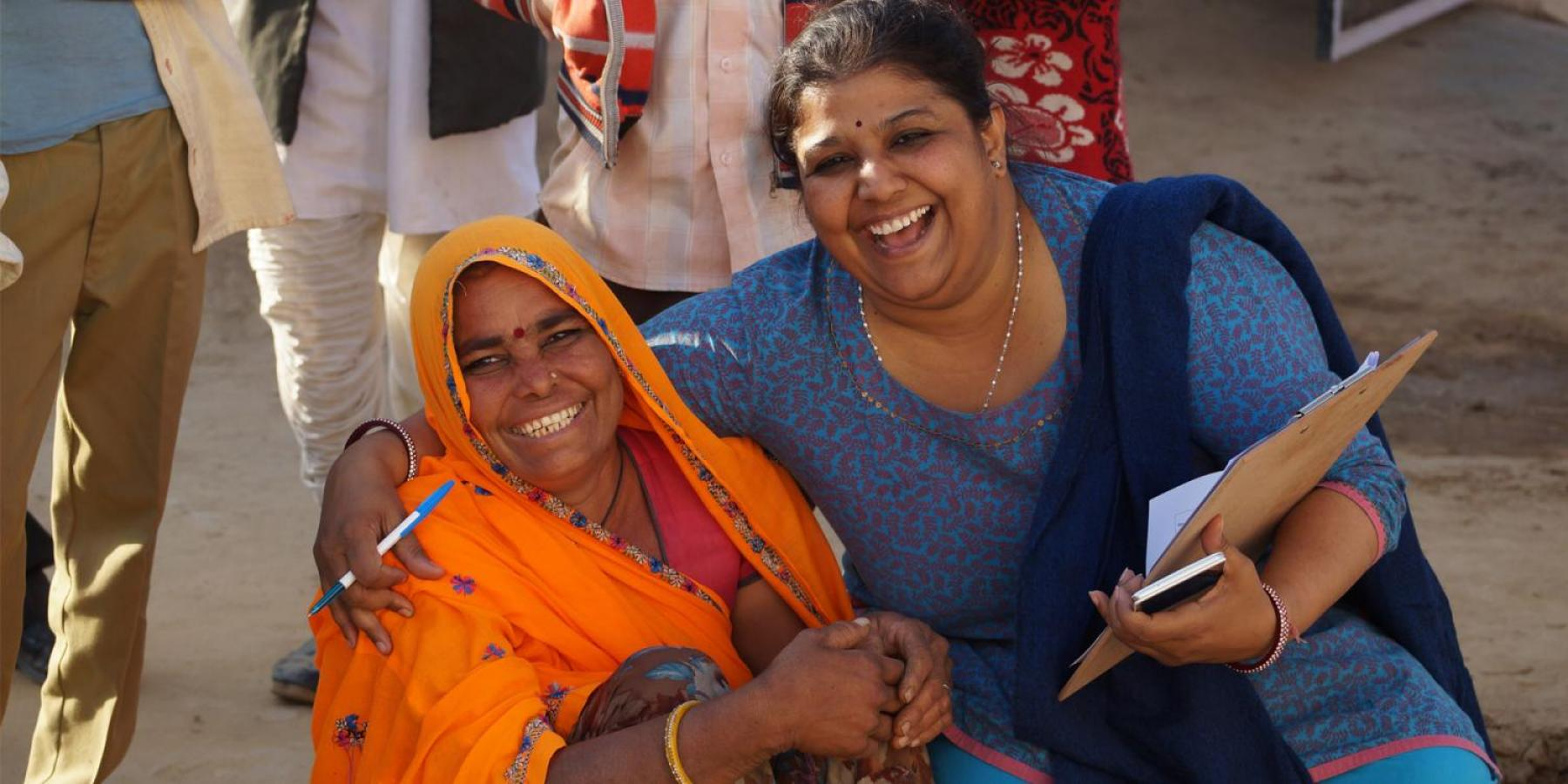 Women in India at a training session