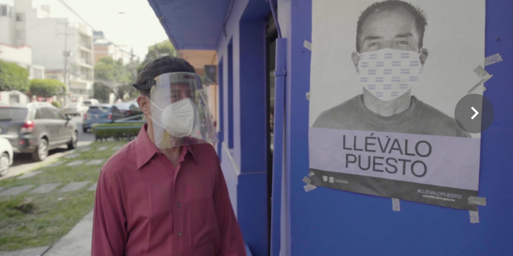 Still from BBC StoryWorks mini-film on COVID-19 and people living with NCDs