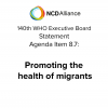 International Migrants Day: promote health in global mobility