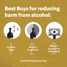 Trouble Brewing:  Four major global health organizations warn that countries are ignoring the harms of alcohol consumption