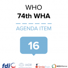 74th WHO World Health Assembly Joint Statement on Agenda Item 16: Committing to implementation of the Global Strategy for Women's, Children's and Adolescents' Health (2016-2030)