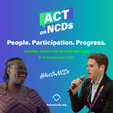 Celebrating the power and potential of communities to act on NCDs