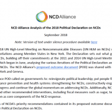 NCD Alliance Analysis of the 2018 Political Declaration on NCDs