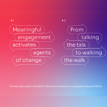 Opportunities for meaningful engagement of people living with NCDs