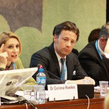 Corinna Hawkes and Jamie Oliver Speak at WHA69 Nutrition Side Event blog header.png